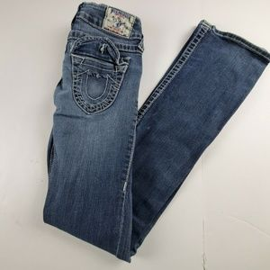 True Religion Low Rise Boot Cut Jeans